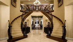 This is my ultimate dream home entrance!! Double staircase, not to mention perfect colors