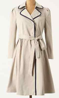 Anthropologie Fair Lady Trench Coat Elevenses