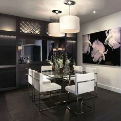 10 miami house and home modern beach styled interior dining room design black white chrome