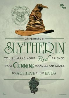 Buy Harry Potter: Sorting Hat Slytherin - Art Print online and save! When the Sorting Hat is in charge, you don't have many choices. Pledge your allegiance to Slytherin with this Harry Potter Sorting Hat Slytherin Migh. Harry Potter Casas, École Harry Potter, Magia Harry Potter, Estilo Harry Potter, Harry Potter Sorting Hat, Mundo Harry Potter, Harry Potter Classroom, Lily Potter, Harry Potter Birthday