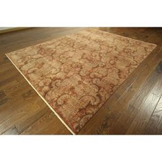 Manhattan Rare Oushak Collection Copper Chobi Hand-knotted Area Rug