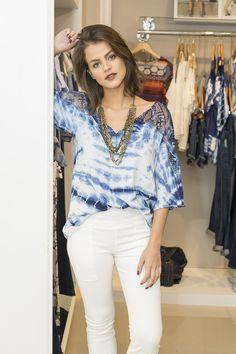 #debrummodas #verão #blusa #bata #tiedye #calça #renda #moda #modafeminina #fashion #style #estilo