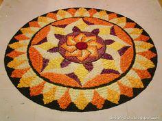 Beautiful pookalam for onam festival