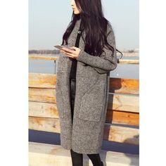 Woolen coat Korean version new fall fashion long cardigan women thick female knit sweater jumper clothing vestidos Cheap Cardigans, Cardigans For Women, Coats For Women, Jumper Outfit, Cardigan Fashion, Long Knit Cardigan, Sweater Cardigan, Vintage Winter, Vestidos