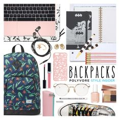 """Back to School Backpacks"" by ashley-rebecca ❤ liked on Polyvore featuring Christian Dior, Casetify, Nicole Miller, Moleskine, Henri Bendel, Aurélie Bidermann, Bobbi Brown Cosmetics, Miss Selfridge, Essie and Thom Browne"