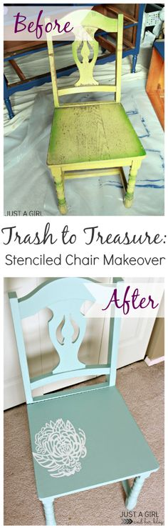 painted chair ideas, rocking chairs, dining chairs, stencil chair, ugli chair