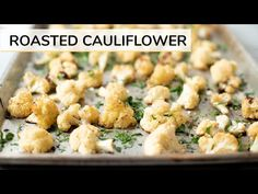 ROASTED CAULIFLOWER RECIPE | how to roast cauliflower - YouTube Cauliflower Recipes, Roasted Cauliflower, Vegetable Recipes, Healthy Foods To Eat, Healthy Recipes, Yummy Recipes, Clean And Delicious, Salad Dishes, Fruit And Veg