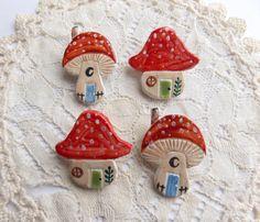 mushroom house brooch by aliceroses on Etsy
