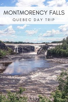 How to visit Montmorency Falls in Quebec Province, Canada. Things to do at the waterfall as well as how to visit the nature attractions as a day trip from Quebec city or Montreal