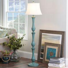 Turquoise Hadley Floor Lamp | Kirklands