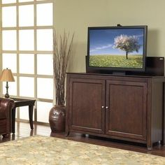 monterey tv lift cabinet in espresso hidden tvflat