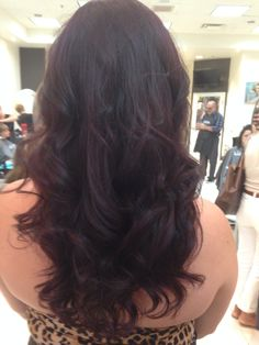 Dark purple ! Perfect for fall. Kristy @ Clip 905-632-2547