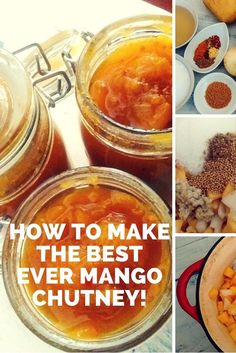 How to Make The Best Ever Mango Chutney! - The Sustainable Home Hub Relish Recipes, Jam Recipes, Canning Recipes, Healthy Recipes, Recipies, Juicer Recipes, Detox Recipes, Salad Recipes, Pavlova