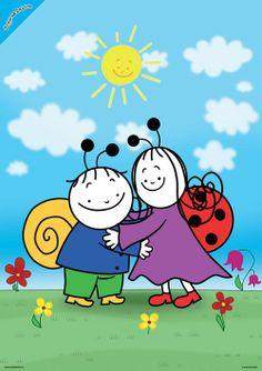 Bogyó és Babóca - A barátság - poszter Smurfs, Cartoon, Friends, Youtube, Books, Fictional Characters, Places, Beast, Character