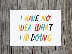 'No Idea' by Sarah Abbott, a Paper Planes postcard for Urban Graphic Ltd.