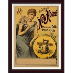 Global Gallery New Home Framed Vintage Advertisement Size: