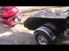 New wire harness, hitch, and trailer for my 2012 Honda Goldwing. Homemade Trailer, Motorcycle Trailer, Honda, Monster Trucks, Wire, Youtube, Campsite, Bike Trailers, Youtubers