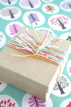 colorful gift wrapping alternative