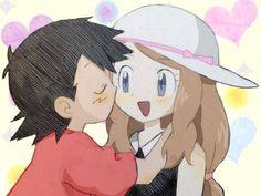 Pikachu, Ash Pokemon, Pokemon People, Pokemon Ships, Pokemon Ash And Serena, Ashes Love, Micro Lego, 2nd Anniversary, Anime Couples Manga