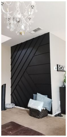Black Accent Walls, Accent Walls In Living Room, Accent Wall Bedroom, Black Walls, Home Living Room, Living Room Decor, Bedroom Decor, Paint Accent Walls, Accent Wall In Bathroom