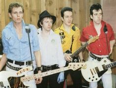 The Clash - Joe Strummer, Paul Simonon, Mick Jones and Topper Headon.