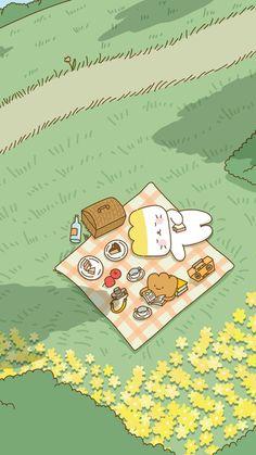 Cute Pastel Wallpaper, Soft Wallpaper, Anime Scenery Wallpaper, Bear Wallpaper, Cute Patterns Wallpaper, Green Wallpaper, Iphone Background Wallpaper, Cute Anime Wallpaper, Aesthetic Iphone Wallpaper