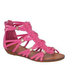 Look at this Link Fuchsia Rebel Gladiator Sandal on #zulily today!