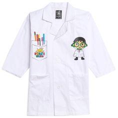 RYAN'S WORLD Costume Lab Coat Science Doctor White - 10-12 / White