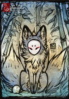 Three Tails [ACEO] by TeaKitsune.deviantart.com on @DeviantArt