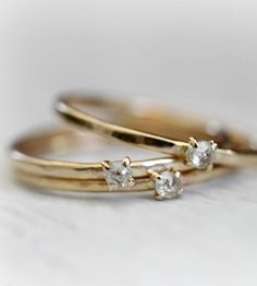 Gold Petite Diamond Ring by Moira K. Lime Jewelry on Scoutmob Shoppe