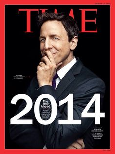 Seth Meyers: You Can Do Crazy Stuff for Late Night Talk Shows! Seth Meyers covers up his grin on the cover of Time magazine's fist 2014 issue. Here's what the upcoming Late Night host had to share with the mag:… A Funny Thing Happened, Late Night Talks, Seth Meyers, Time Magazine, Magazine Covers, Saturday Night Live, Late Nights, Funny People, Interview