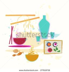 #Oriental #food #illustration #Asian