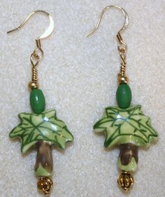 Handcrafted by Teal Palmetto, LLC.  These perky palm tree earrings were purchased by a customer in Beaufort, South Carolina, where there are PLENTY of palm trees!