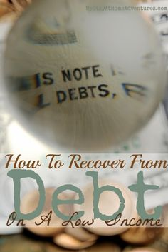 Having a low income and debt its rough. How you recover from debt in a low income depends on you. Read how you can recover from debt here.