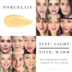 Makeup Color Collages Porcelain MakeSense Foundation in Original and anti-aging formulas by SeneGenc Senegence Foundation, Makesense Foundation, Foundation Colors, Makeup Collage, Senegence Makeup, Senegence Products, Color Collage, You Look Beautiful, Make Up