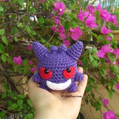 Gengar [FREE SHIPPING] Crochet Amigurumi Pokemon Nintendo Chibi Fanart Plush Toy Plushie https://www.etsy.com/listing/270070150/free-shipping-chibi-gengar-made-to-order?ref=shop_home_active_15
