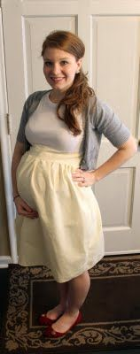 Along with growing a baby for the past 8 months, I've also grown a hatred for official maternity clothes. MUST learn to sew before #2 so I can do something like this.