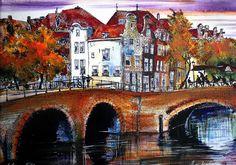 Nu in de #Catawiki veilingen: Elena Polyakova - Amsterdamse avond