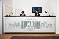 Wow - what a cool hotel check-in desk!