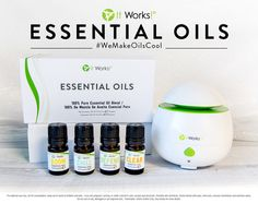 How easy is it to enjoy It Works! Essential Oils anytime, anywhere? It's essentially a snap to experience how #WeMakeOilsCool with the Essential Set! Including four 5ml It Works! Essential Oils and the Essential Diffuser, this set includes everything you need to boom, chill, defend, and clear! Just sit back and breathe in your It Works! Essential Oils!