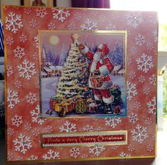 Christmas Card x makings from Hunkydory kit) Christmas Cards 2017, Christmas Deco, Xmas Cards, Hunky Dory, Hobbies And Crafts, Card Ideas, Projects To Try, Holidays, Winter