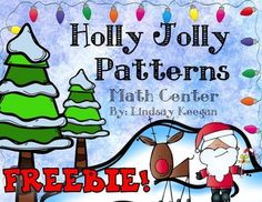This center is a sample from this product:  Christmas Math Centers  Check it out :)  Enjoy this fun and festive patterning math center.  This center includes a student instruction page and pattern strips with pieces to finish the patterns.  Also included is a cut and paste page for students to show evidence of their completed work.
