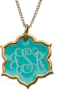 ShopStyle: Jordann Turquoise Enamel Large Pendant Necklace