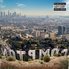 Compton: 2015 album from Los Angeles producer/ /Hip Hop legend & his first in 16 years! Guests include Kendrick Lamar, Snoop Dogg, Ice Cube, Eminem, Xzibit & others. Eminem, Straight Outta Compton, Kendrick Lamar, Luke Bryan, Bj The Chicago Kid, Rapper, Cool Album Covers, Album Covers, Cover Art