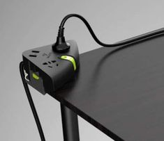 Corner-Clasping Power Strips - The Bull Extension Cord Keeps Sockets within Convenient Desktop Reach