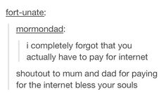 Um... Wow.  I love you, Mom and Dad! (Not just for paying for the internet.)