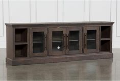 20 Awesome Antique Console Table Buffet Tv Stand In Living Room References - nuuwihome Tv Stand Living Spaces, Living Room Tv, Living Room Furniture, Kitchen Furniture, Dining Room, Furniture Nyc, Tv Stand With Glass Doors, Glass Tv Stand, Long Tv Stand