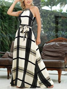 Plaid Print Halter Self Belted Maxi Dress dresses to wear to a wedding dresses short dress outfit dress dress dresses modest dresses Trendy Dresses, Modest Dresses, Casual Dresses, Fashion Dresses, Maxi Dresses, Work Dresses, Party Dresses, Linen Dresses, Holiday Dresses