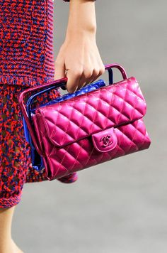 Double bagging it at Chanel Spring 2014 #pfw #ss14