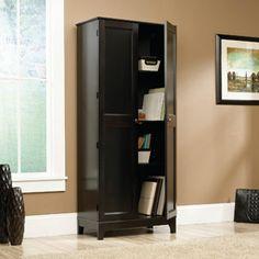 $129 Sauder Storage Cabinet, Estate Black